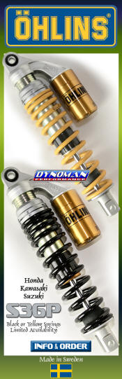 Ohlins S36P Shocks at Dynoman