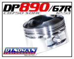 890 Custom Piston Kit for CB750 SOHC at Dynoman